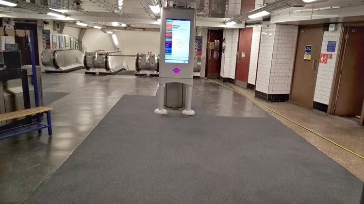 Resbuild MMA Smoothscreed FR has been successfully installed in Chancery Lane Underground Station in Holborn, Central London